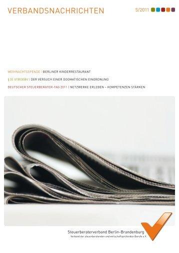 VERBANDSNACHRICHTEN - Cb-Verlag Carl Boldt, Berlin