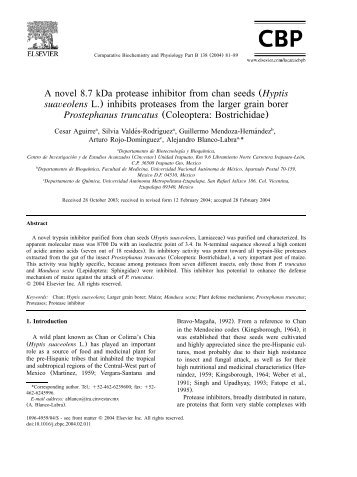 A novel 8.7 kDa protease inhibitor from chan seeds (Hyptis ... - UAM