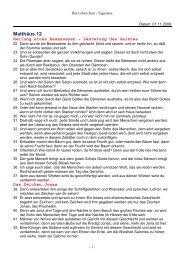 Das Leben Jesu - Bibeltext Monat 03