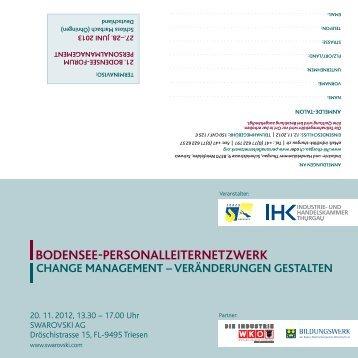 Einladung Personalleiter - EURES Bodensee
