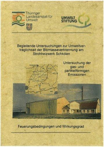Abschlussbericht zum Pilotprojekt Strohheizwerk Schkölen