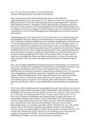 Univ.-Prof. Dr. Klaus-Peter Busse. Universität Dortmund Abstract ...