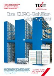 Das EURO-Behälter- Lagersystem - TIXIT