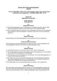 Ordnungswidrigkeitengesetz - Projektwerkstatt