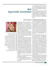 Die Ayurveda-Fastenkur - Ayurveda Gesundheits