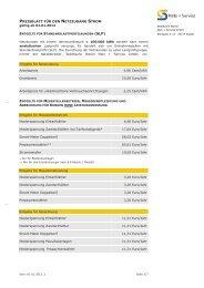 Entgelte der Netznutzung ab 01.01.2012 - Netz plus Service GmbH