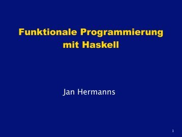 Funktionale Programmierung mit Haskell - sushi3003