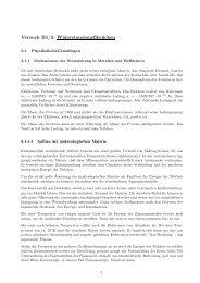 Versuch B1/3: Widerstandsmeßbrücken - Allgemeine und ...