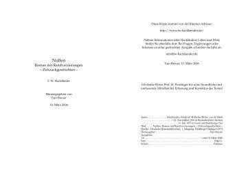 Nullen (1,9 MB) - Hackländer, Friedrich Wilhelm Ritter von