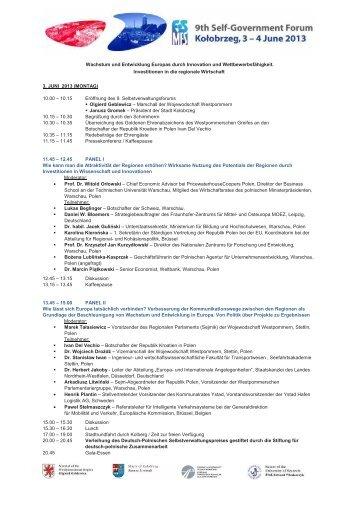 Programm FS_DE - Stiftung für deutsch-polnische Zusammenarbeit