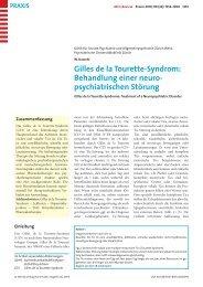 Zum Artikel im PDF Format - Tourette Gesellschaft Schweiz