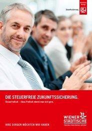 DIE STEuERFREIE ZukuNFTSSICHERuNG. - Wiener Städtische