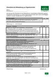 Checkliste Hilfestellung Eigenkontrolle