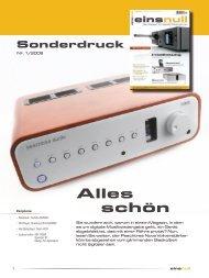 einsnull Sonderdruck (PDF) - Peachtree Audio