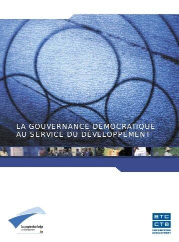 la gouvernance démocratique au service du développement - BTC