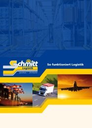 So funktioniert Logistik - Spedition Schmitt Vellberg