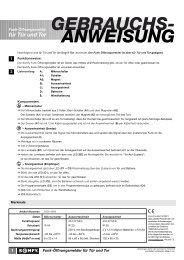GEBRAUCHS- ANWEISUNG - Betting und Buss Gbr