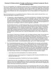 rechtlichen Hinweise für Wiederverkäufer, Errichter ... - BTR Hamburg
