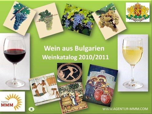 Wein aus Bulgarien - MMM Agentur