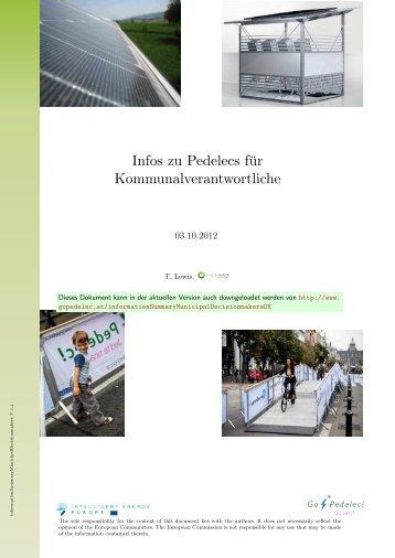 Infos zu Pedelecs für Kommunalverantwortliche - the Go Pedelec!