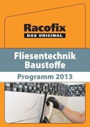 Fugenmassen - Racofix Bauchemie