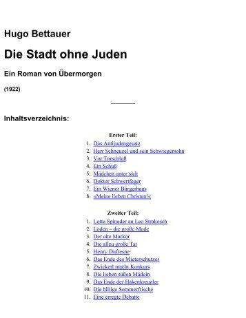 Hugo Bettauer: Die Stadt ohne Juden - The new Sturmer