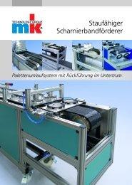 Staufähiger Scharnierbandförderer - mk Technology Group