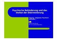 Psychische Behinderung und das Verbot der ... - Paulus-Akademie