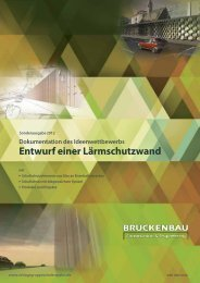 Entwurf einer Lärmschutzwand - Zeitschrift Brueckenbau