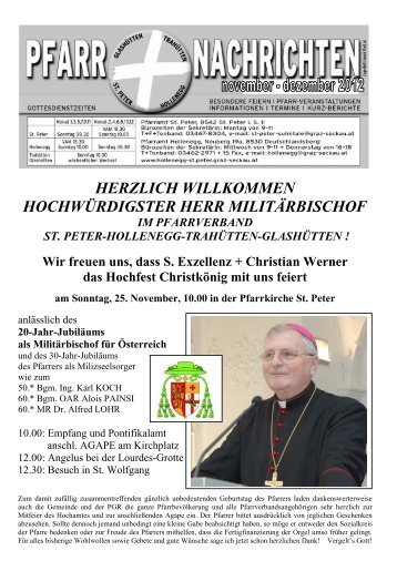 Pfarrnachrichten 11/12 2012 - in Farbe - Pfarrverband Hollenegg ...