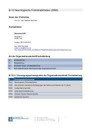 B-12 Neurologische Frührehabilitation - Barmherzige Brüder Trier e. V.