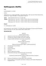 Waffengesetz (WaffG) - Gesetze im Internet