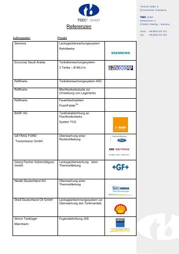 Stand September 2009 (PDF) - TSEC