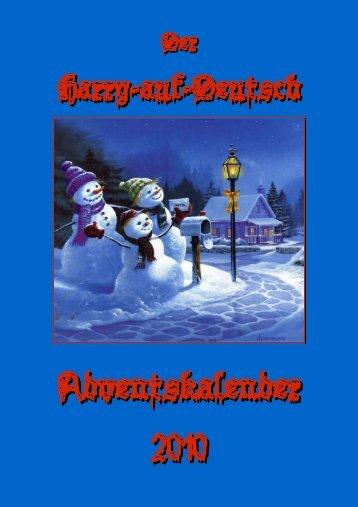 Der Harry-auf-Deutsch Adventskalender 2010