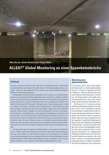 ALLSAT® Global Monitoring an einer Spannbetonbrücke