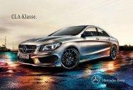 Das Prospekt des CLA (C117) von Mercedes-Benz.
