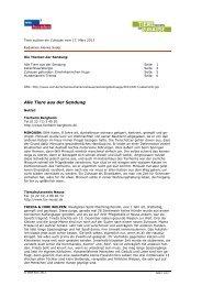 PDF zur Sendung vom 17. März 2013 - WDR.de