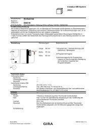 instabus EIB System Aktor Stellantrieb 0569 00 - Gira