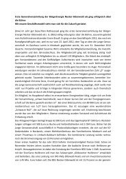 Pressebericht BEG Generalversammlung 2012 - BürgerEnergie ...