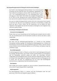 Eingewöhnungskonzept Kindergartenbereich - Steißlingen