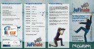 JuFinale 2011 Programmheft - Bezirksjugendring Oberpfalz