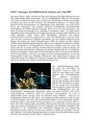 WIEN / Staatsoper: DAS RHEINGOLD, Premiere - Suomen Wagner ...