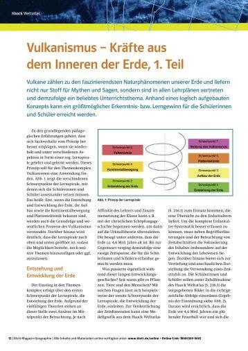 Vulkanismus – Kräfte aus dem Inneren der Erde ... - Ernst Klett Verlag