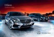 Das Prospekt der E-Klasse Limousine und T-Modell/Kombi (WS212) von Mercedes-Benz.