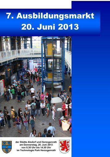 7. Ausbildungsmarkt 20. Juni 2013 - Aachener Nachrichten