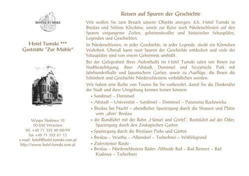 Reisen auf Spuren der Geschichte - Zamek Kliczków