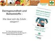 Darmgesundheit und Ballaststoffe - - DGE-Sektion Niedersachsen