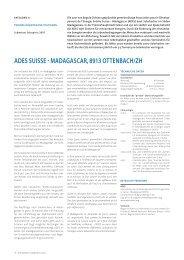 ades suisse - madagascar, 8913 ottenbach/zh - Solar Agentur ...