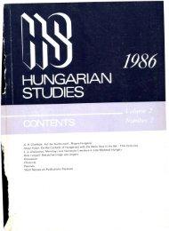 HUNGARIAN STUDIES 2. No. 2. Nemzetközi Magyar ... - EPA