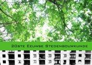 20ste Eeuwse Stedenbouwkunde - Architique